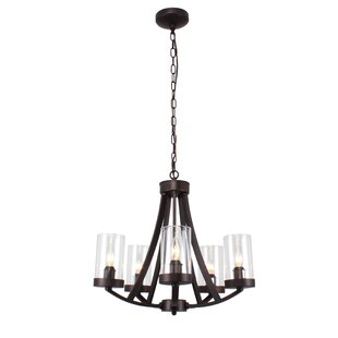 Juan Farmhouse 5-Light Shaded Chandelier by Millwood Pines