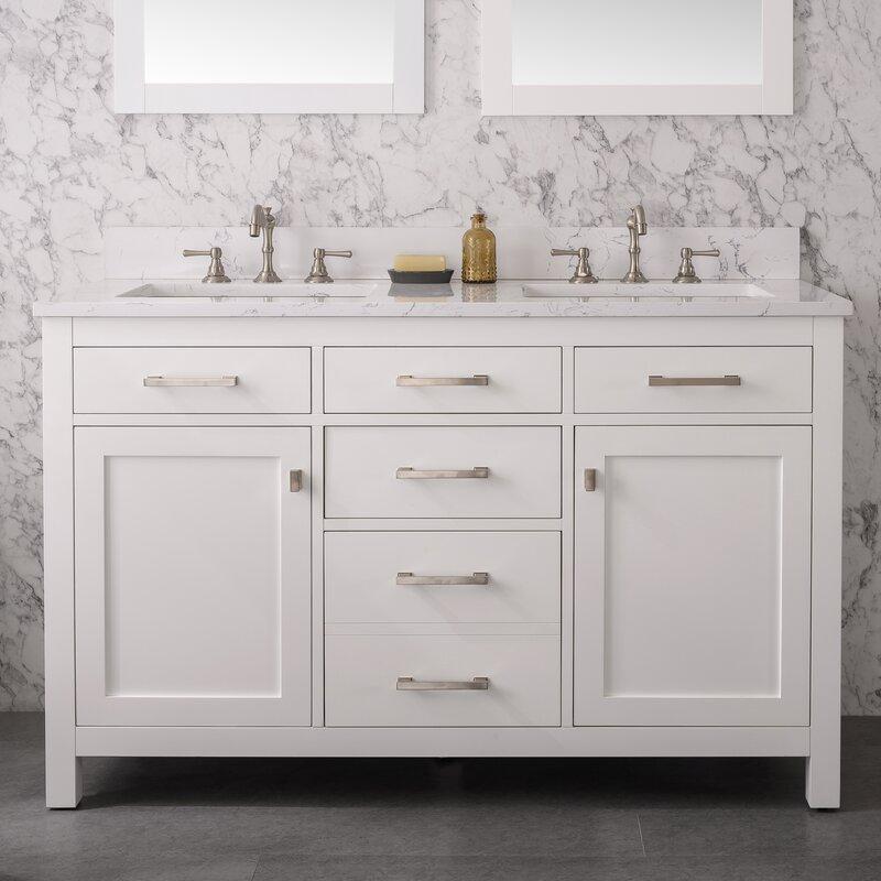 Atencio 54 Double Bathroom Vanity Set Reviews Joss Main