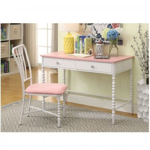 Olympia 43 Writing Desk with Chair by Harriet Bee