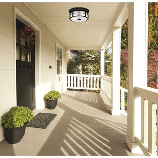 Alcott Hill Southold 2-Light Outdoor Flush Mount