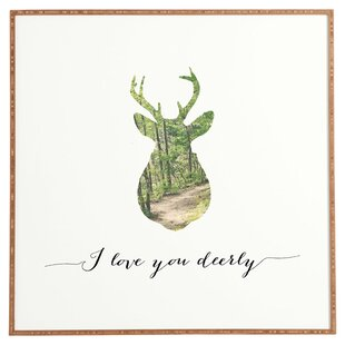 I Love You Deerly Wall Art Framed Vintage Advertisement