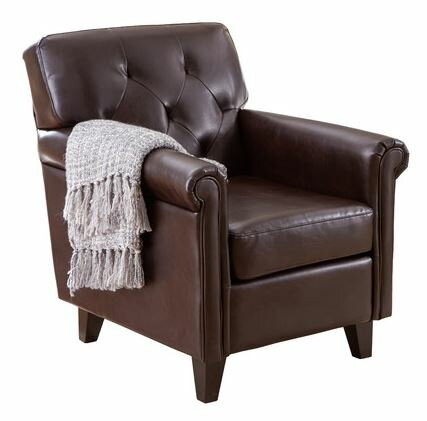 Captivating Bustamante Tufted Club Chair