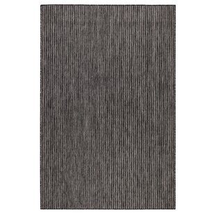Desantiago Texture Stripe Gray Indoor/Outdoor Area Rug