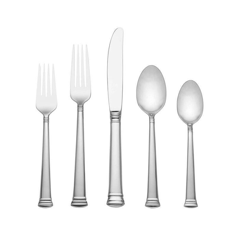 """Place//Oval Soup Spoon 7/"""" Lenox ETERNAL stainless, 18//10"""