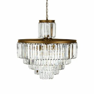 Rosdorf Park Jillian 22-Light Crystal Chandelier