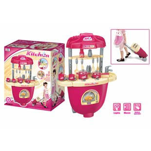 Budget Carry Along Plastic Play Kitchen ByBerry Toys