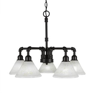 Williston Forge Kash 5-Light Shaded Chandelier