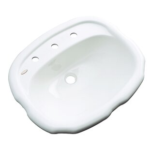 Solidcast Martinique Specialty Drop-In Bathroom Sink with Overflow