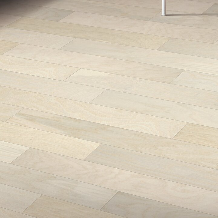 "City Escape 5"" Engineered Oak Hardwood Flooring in Aspen White"