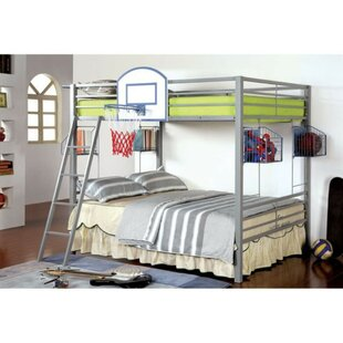 Compare prices Slater Metal Full Over Full Bunk Bed by Harriet Bee Reviews (2019) & Buyer's Guide