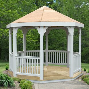 Creekvine Designs 10 Ft. W x 10 Ft. D Solid Wood Patio Gazebo