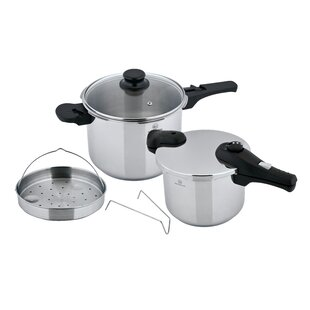 Prepro 6 Piece Stainless Steel Pressure Cooker Set