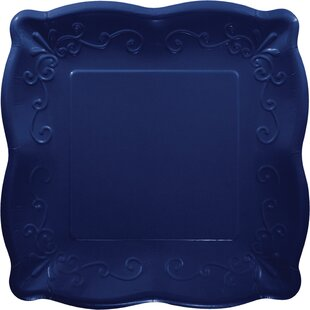 Square Paper Disposable Dessert Plate (Set of 24)