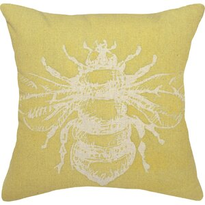 Bumble Bee Linen Throw Pillow