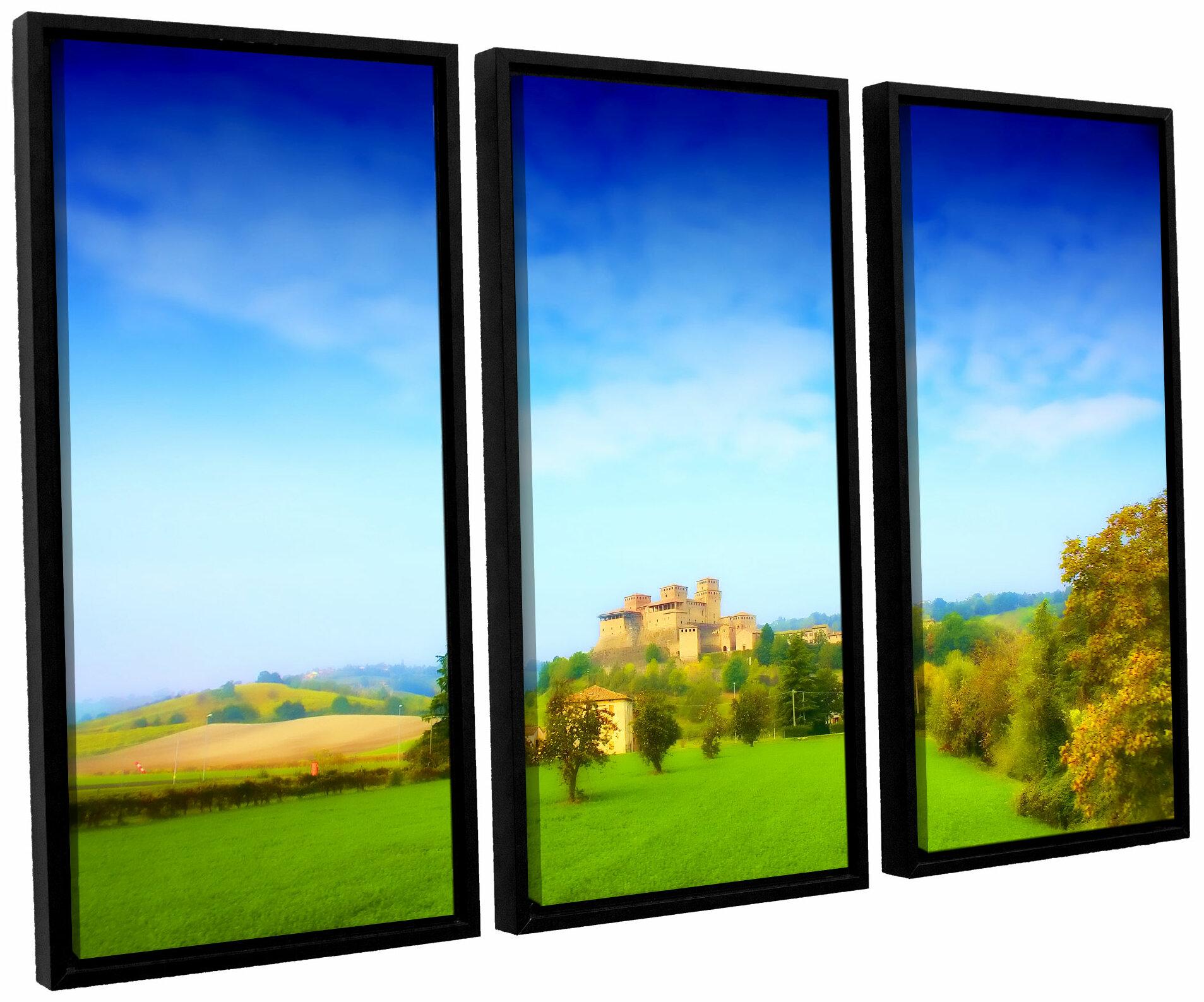 ArtWall \'Italian Castle\' by Dragos Dumitrascu 3 Piece Framed ...