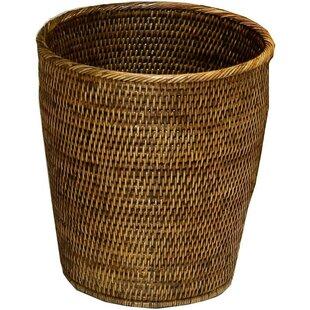 Mistana Efren Round Rattan Open Waste Basket