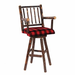 Hickory 24 Swivel Bar Stool by Fireside Lodge Modernt