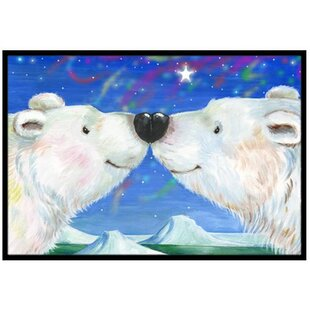 c32f5bd20f4 Polar Bears Kiss Doormat