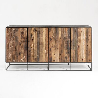 """17 Stories Timmy 70.87"""" Wide Mahogany Wood Sideboard"""