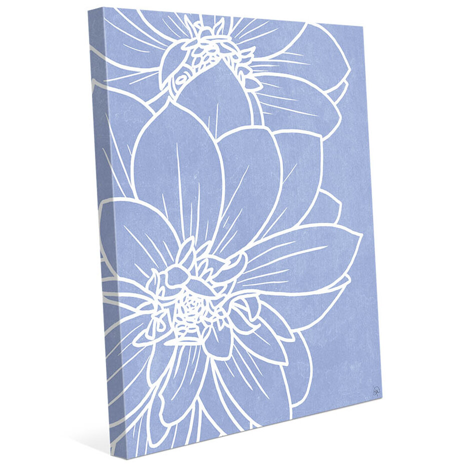 Click Wall Art Periwinkle Dahlias Graphic Art On Wrapped Canvas Wayfair