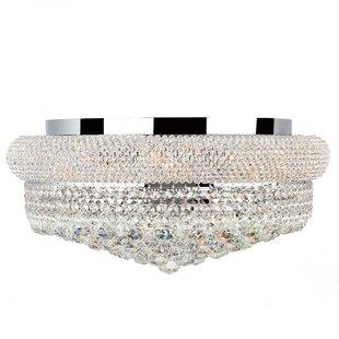 Rosdorf Park Jae Crystal Empire 10-Light Flush Mount