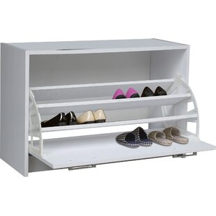 New Style Single 12-Pair Shoe Storage Cabinet By Rebrilliant