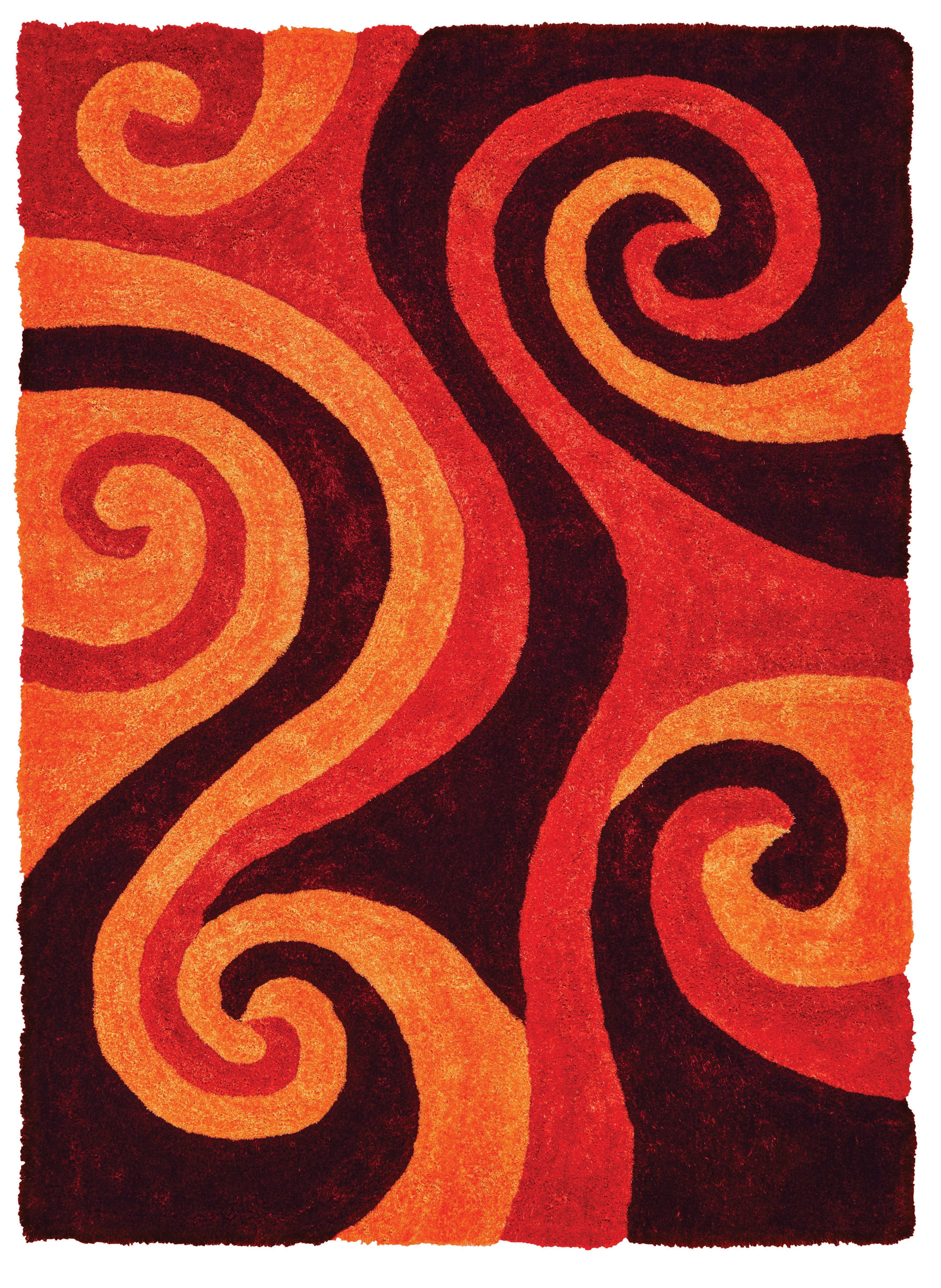 Wrought Studio Fitts Red Burnt Orange Area Rug Reviews Wayfair