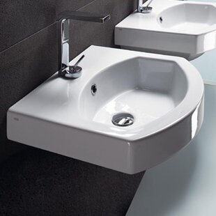 GSI Collection Ceramic U-Shaped Vessel Bathroom Sink with Overflow
