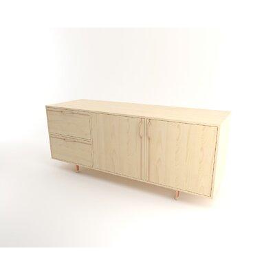 "Tronk Design Chapman 70.5"" Wide 2 Drawer Sideboard  Color: Rose Copper"