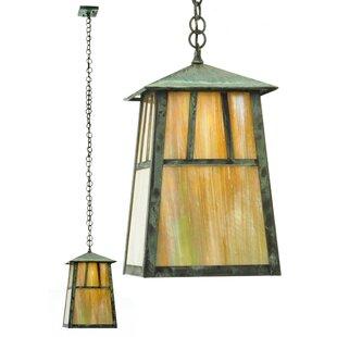 Meyda Tiffany Stillwater Double Bar Mission Elongated 1-Light Lantern Pendant