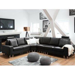 Karlo Leather Reversible Sectional