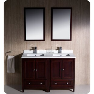 Oxford Traditional 48 Double Bathroom Vanity Set with Mirror by Fresca