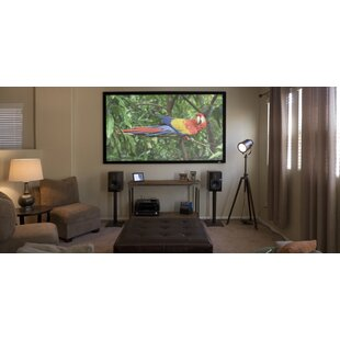 ezFrame Series White Fixed Frame Projection Screen by Elite Screens