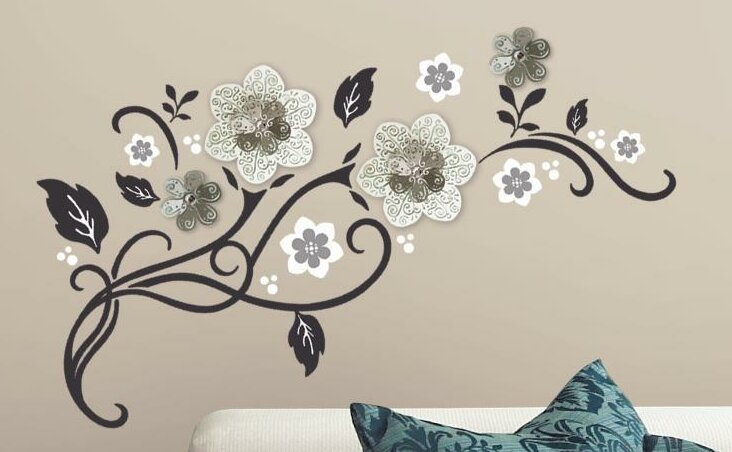 Floral Scroll Peel And Stick Wall Decal Part 45
