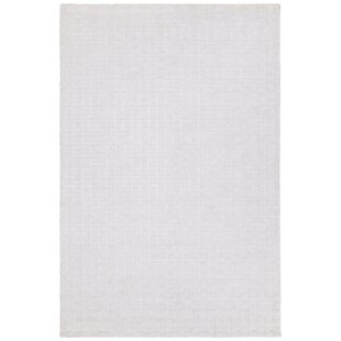 Inexpensive Arctarus Hand-Woven White Area Rug By Orren Ellis