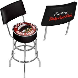 Dodge Scat Pack Club 31 Swivel Bar Stool Trademark Global