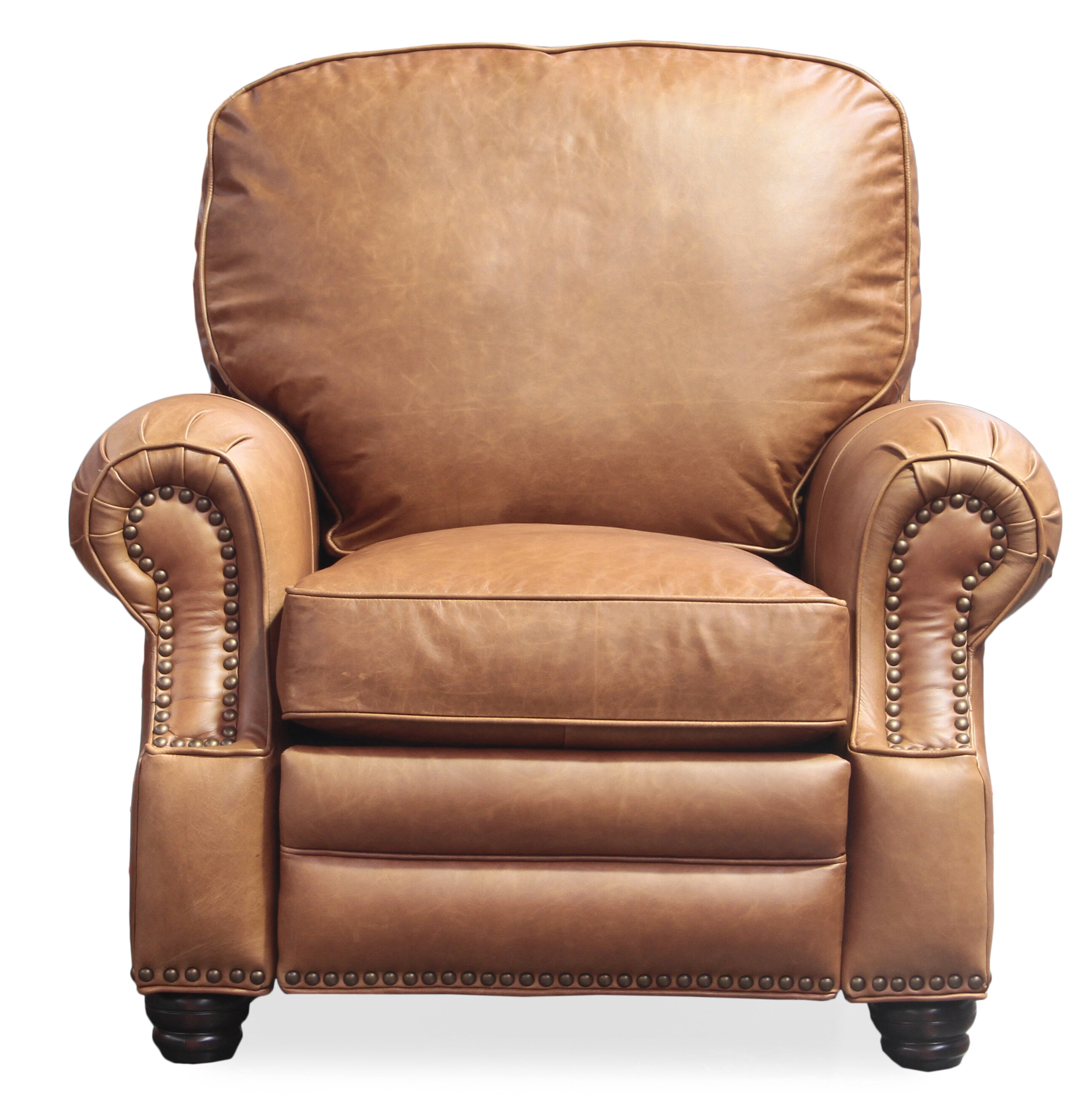 leather recliner chestnut copper product home shipping grove garden hoffman today free overstock bonded