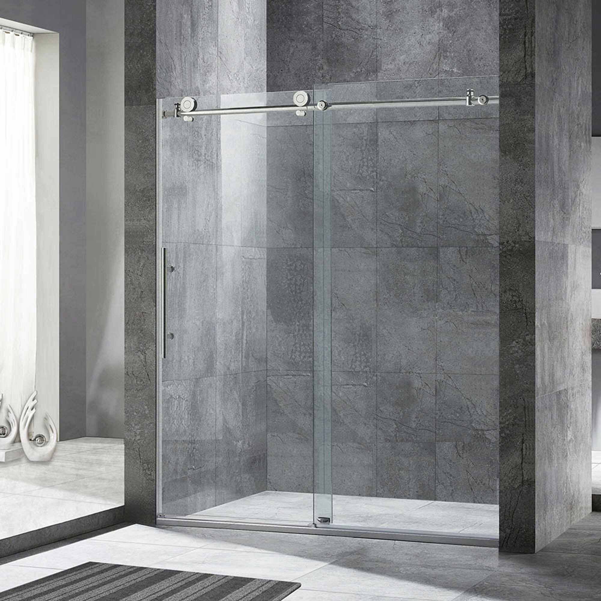 Woodbridge 60 X 76 Single Sliding Frameless Shower Door