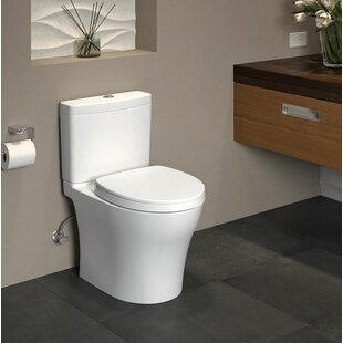 Affordable Price Aquia IV 1G Dual Flush Elongated Two-Piece Toilet with CeFiONtect (Seat Included) By Toto