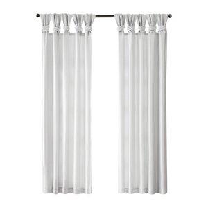 Rivau Solid Room Darkening Tab Top Single Curtain Panel