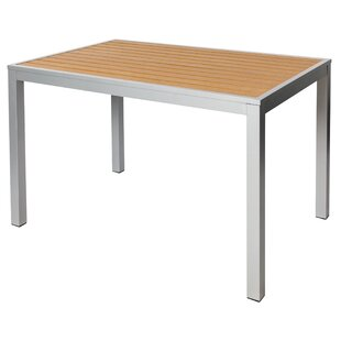 Longport Aluminum Dining Table by BFM Seating Design