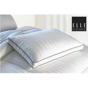 Elle Decor 300 Thread Count Bamboo Viscose Multi-Stripe Down Alternative Queen Pillow