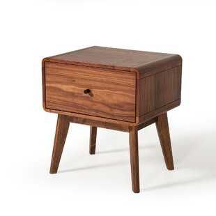 Corrigan Studio Tanya Mid-Century 1 Drawer Nightstand