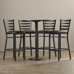 5 Piece Pub Height Dining Set by Wade Logan