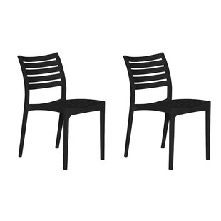 Kamari Stacking Patio Dining Chair (Set of 2) by Brayden Studio