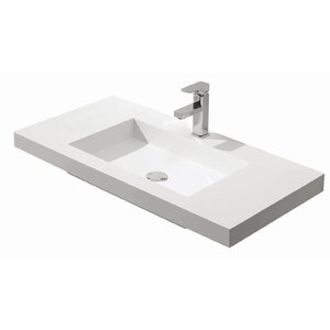 Diamond Stone Solid Surface 49″ Single Bathroom Vanity Top