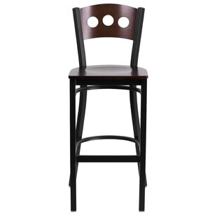 Barker 29.75 Bar Stool (Set of 2) Red Barrel Studio