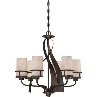 Loon Peak Colby 6-Light Shaded Chandelier