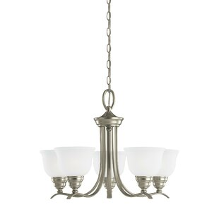 Darby Home Co Busti 5-Light Shaded Chandelier