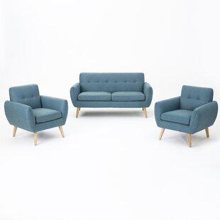 Erinn 3 Piece Living Room Set by Zipcode Design
